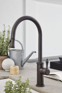 California Faucets DAVOLI Series Pull-Down Kitchen Faucet in ...