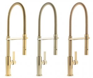 ca october 18 2017 california faucets offers designers and homeowners alike a new ingredient when it comes to personalizing their kitchen design - Gold Kitchen Faucet